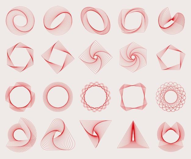 抽象的な幾何学的要素設定ベクトル 無料ベクター