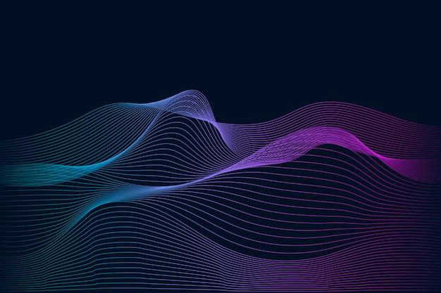 データ可視化動的波パターンベクトル 無料ベクター