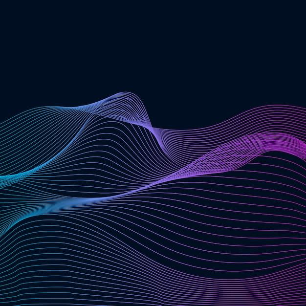 Визуализация данных динамический волновой вектор Бесплатные векторы