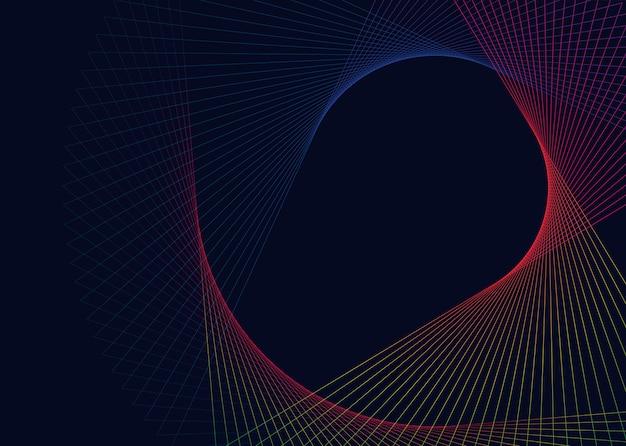 抽象的な円形の幾何学的要素ベクトル 無料ベクター