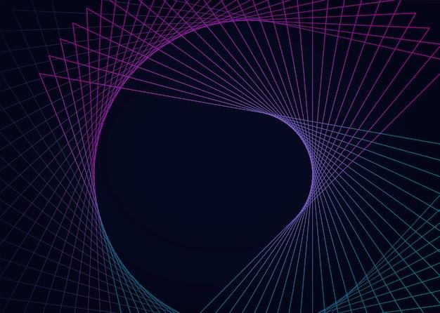 Абстрактный круговой геометрический элемент вектора Бесплатные векторы