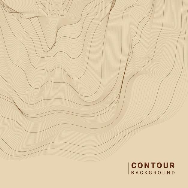 茶色の抽象的な輪郭線図 無料ベクター