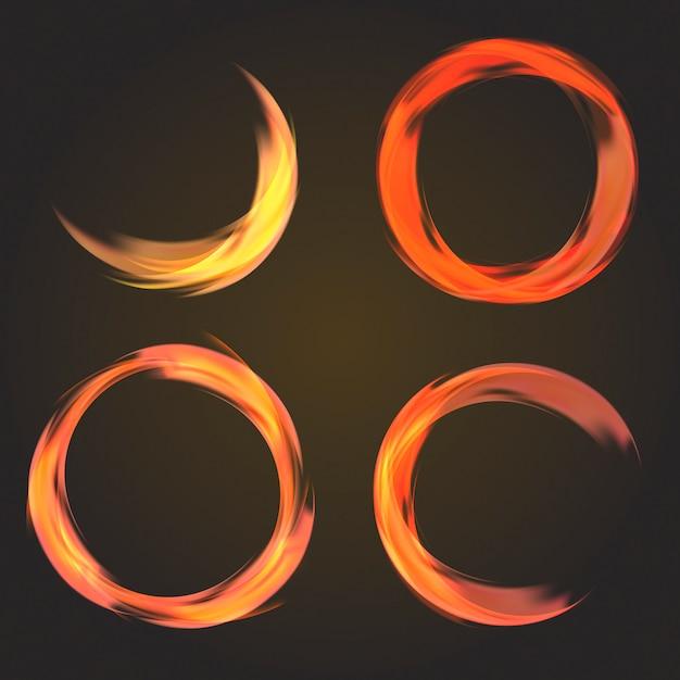 抽象円形コレクション 無料ベクター