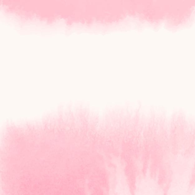 ピンクの水彩風バナーベクトル 無料ベクター