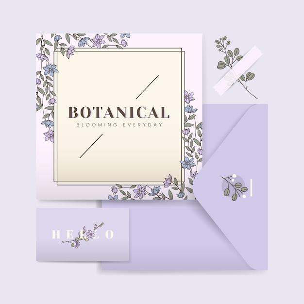 ウェディングカードのデザイン 無料ベクター