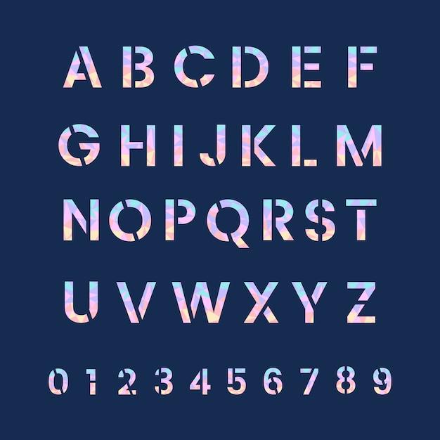 Алфавит и векторы системы счисления Бесплатные векторы