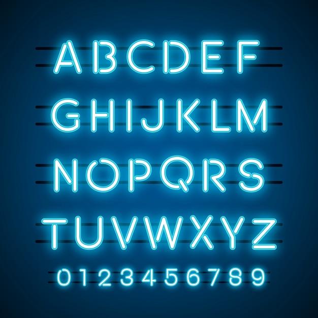 アルファベットと数字の系ベクトル 無料ベクター