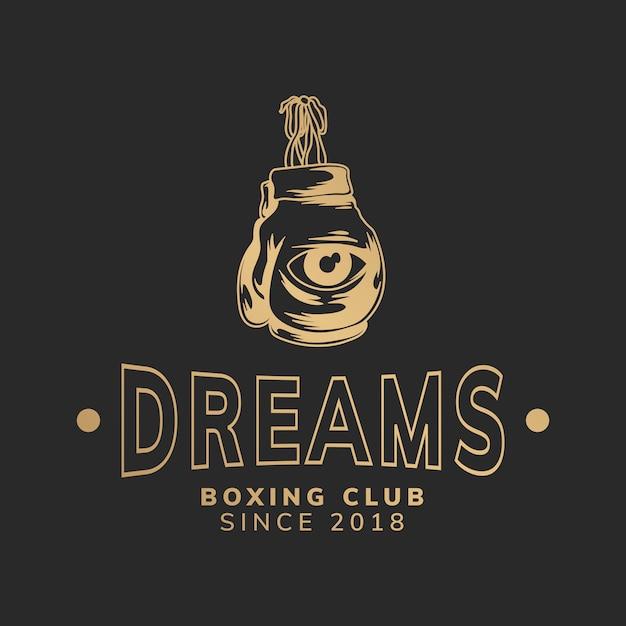 夢ボクシングクラブイラストレーション 無料ベクター