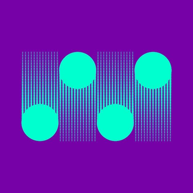 Бирюзовые точки полутоновых фон вектор Бесплатные векторы