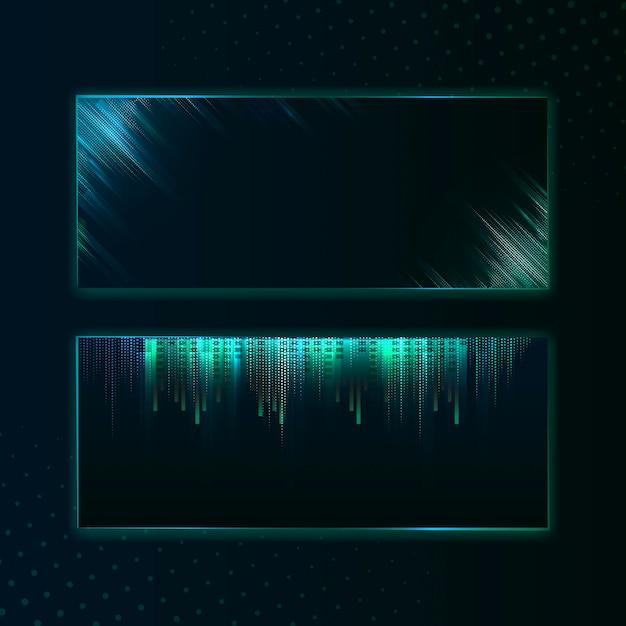 Пустой зеленый прямоугольник баннер вывеска вектор Бесплатные векторы
