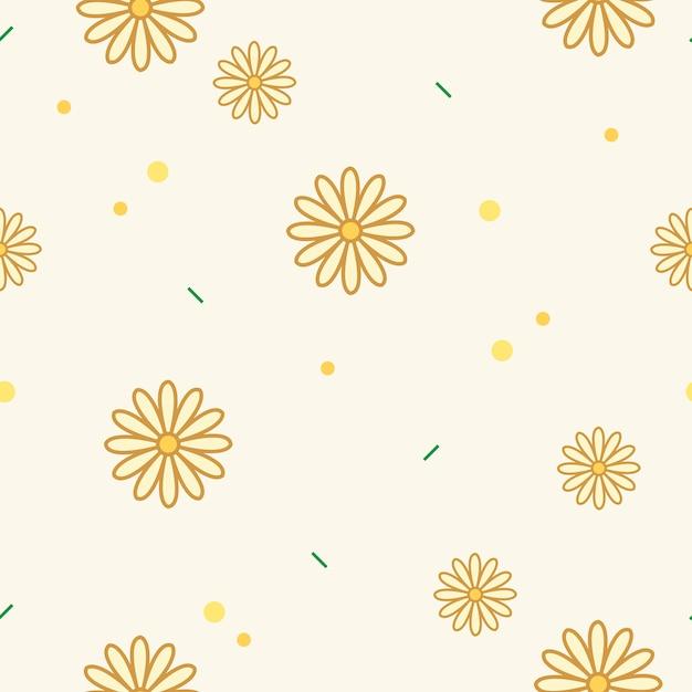 Желтый цветочный узор Бесплатные векторы