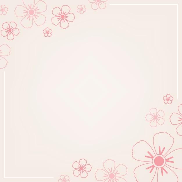 ピンクの花柄 無料ベクター