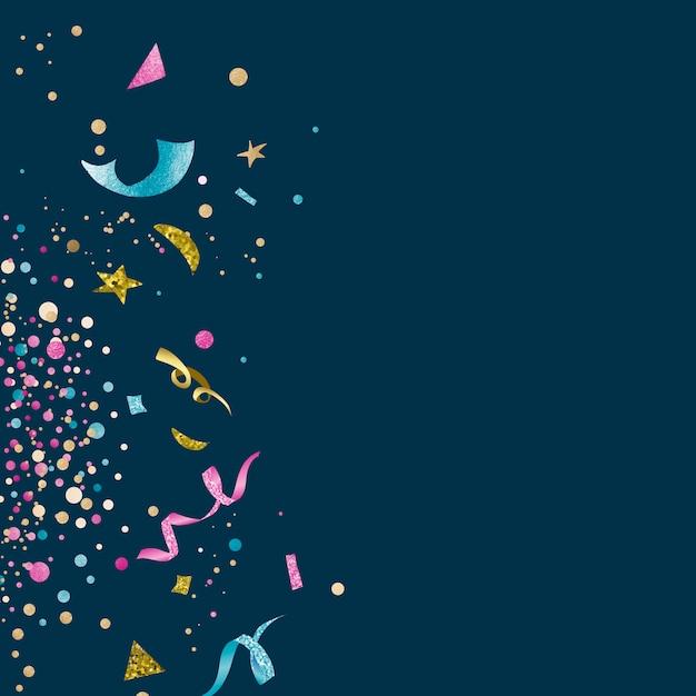 カラフルな紙吹雪のお祝いデザイン 無料ベクター