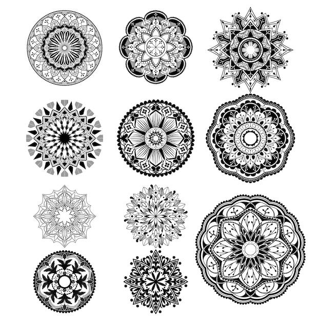 Духовный образец мандалы Бесплатные векторы