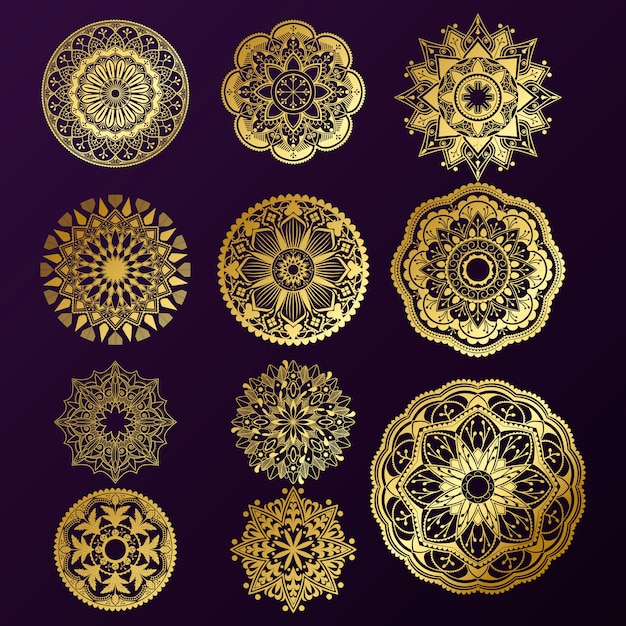 Индийский дизайн мандалы Бесплатные векторы
