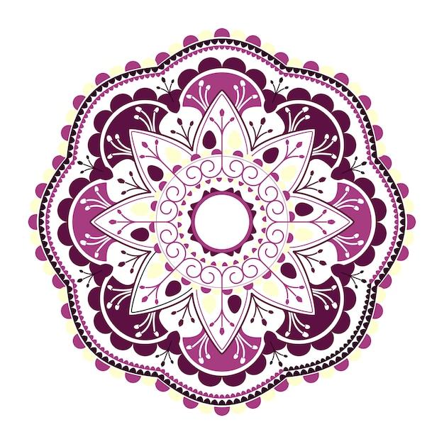 紫色のヒンズー教のマンダラ 無料ベクター