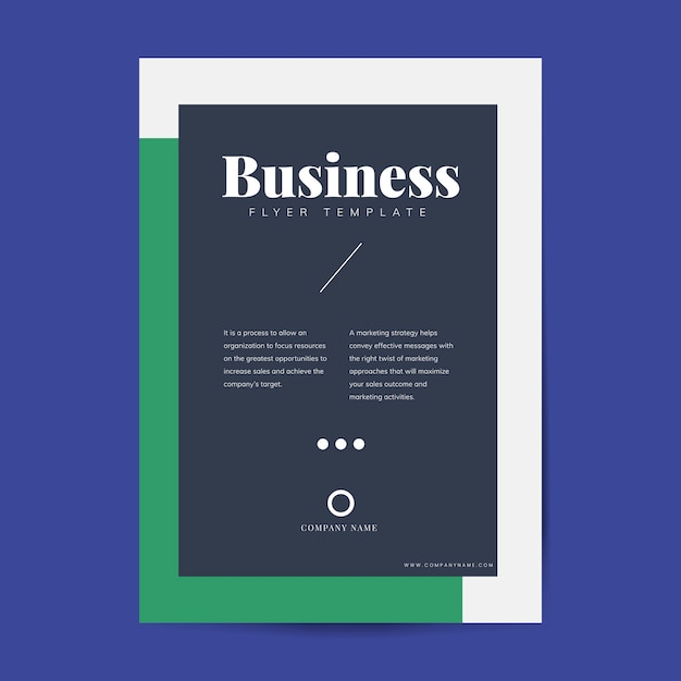 企業パンフレットとポスターのテンプレート 無料ベクター