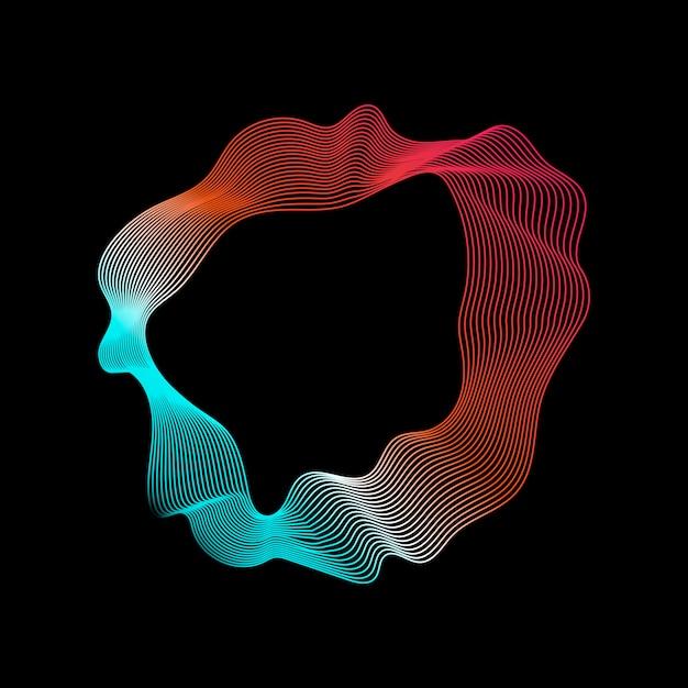 カラフルな抽象的な輪郭線コレクション 無料ベクター