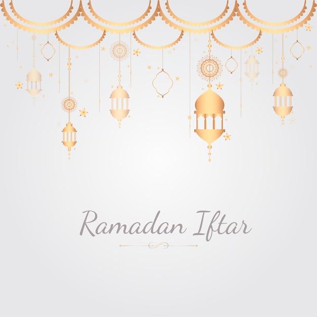 Рамадан карты иллюстрация Бесплатные векторы