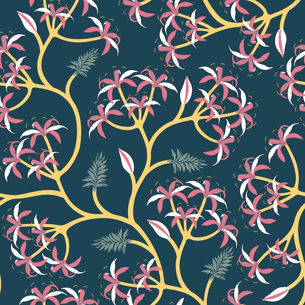 自然植物の枝の壁紙デザイン 無料ベクター