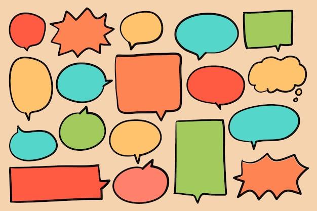 Коллекция красочных речи пузыри вектора Бесплатные векторы