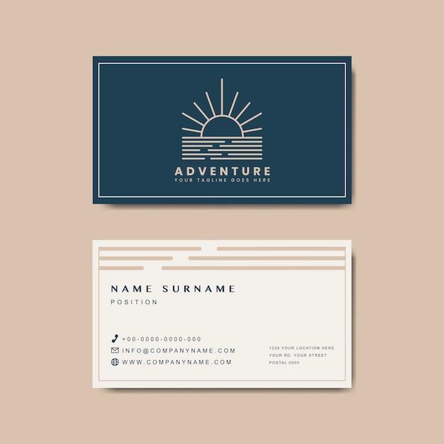 Премиум макет дизайна визитной карточки Бесплатные векторы