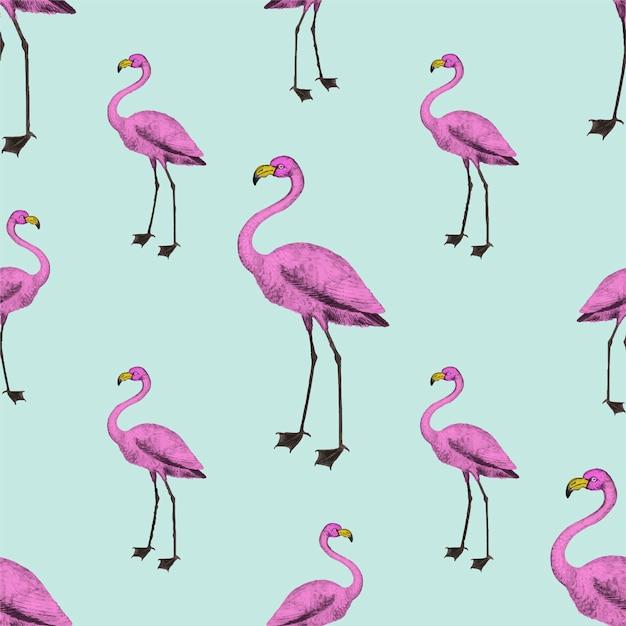 Обои розовые фламинго Бесплатные векторы