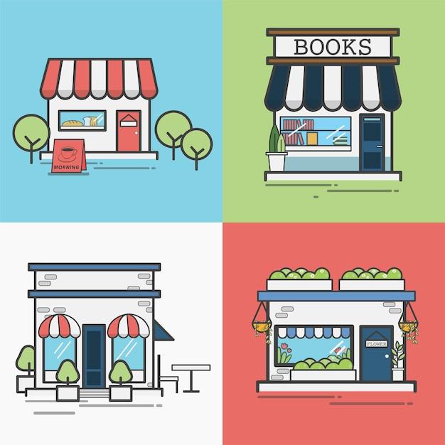 お店や店舗のコレクション 無料ベクター