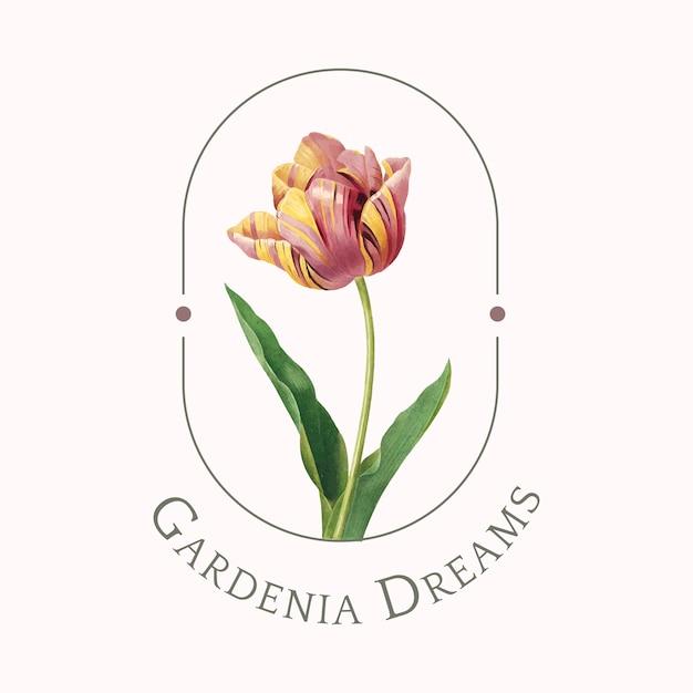 Шаблон логотипа цветочный бренд Бесплатные векторы