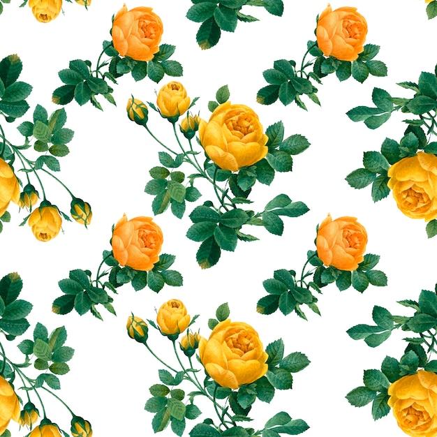 花柄の背景 無料ベクター
