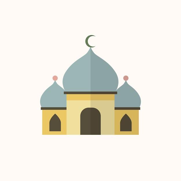 イスラム教のモスクのイラスト 無料ベクター