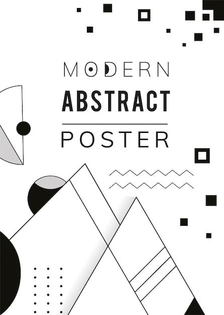 抽象的なモダンな黒と白のテンプレート 無料ベクター