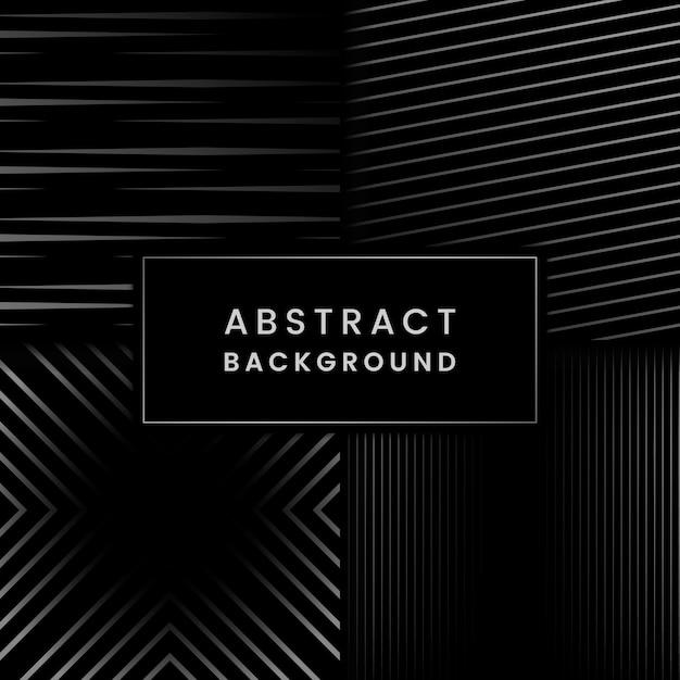 黒とグレーの抽象的な背景ベクトルを設定 無料ベクター