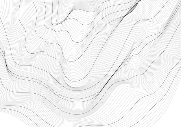 Монохромный абстрактный контур линии иллюстрации Бесплатные векторы