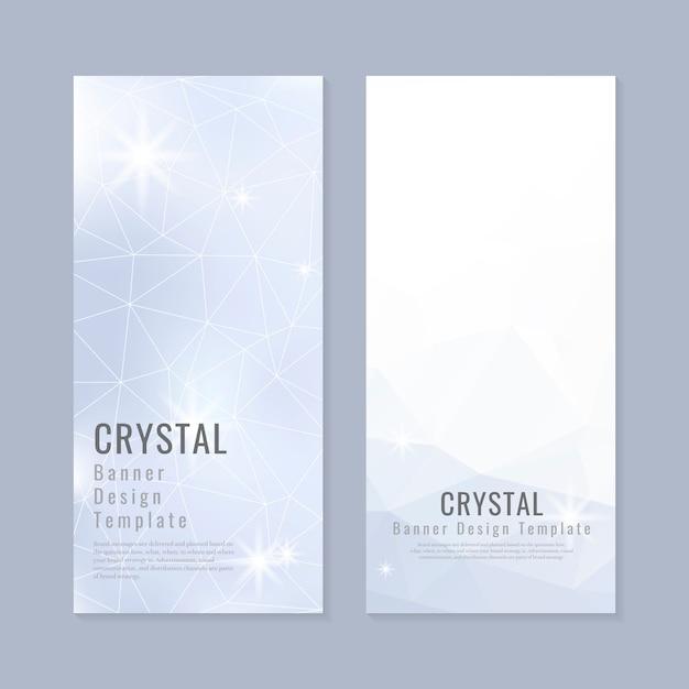 Кристалл текстурированный фон коллекции Бесплатные векторы