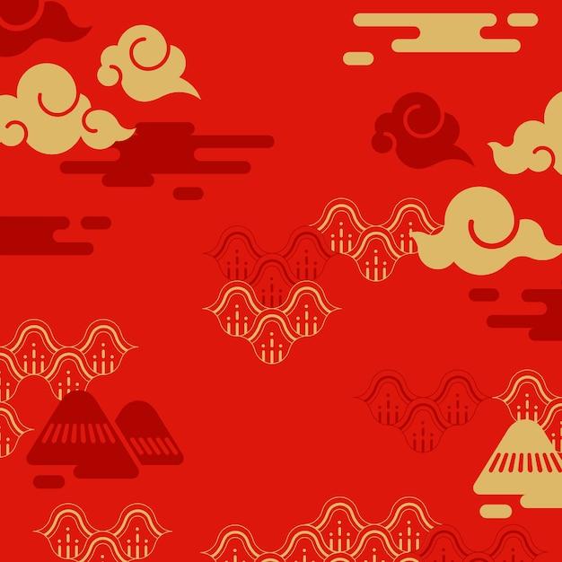 中国の旧正月の図 無料ベクター
