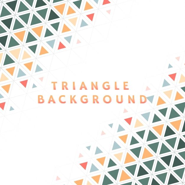 カラフルな三角形のパターン図 無料ベクター