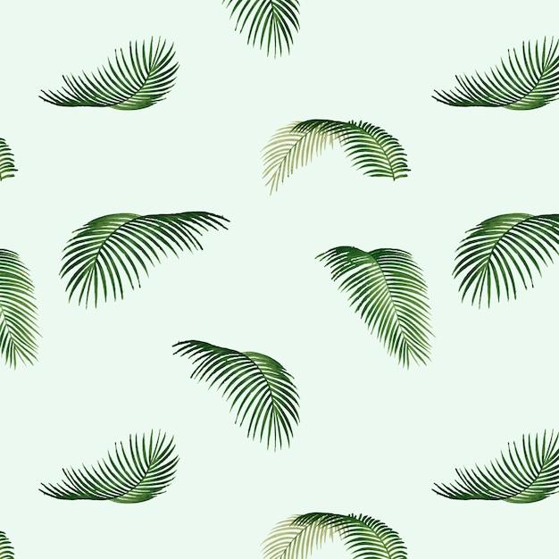 Иллюстрация картины листьев тропическая Бесплатные векторы