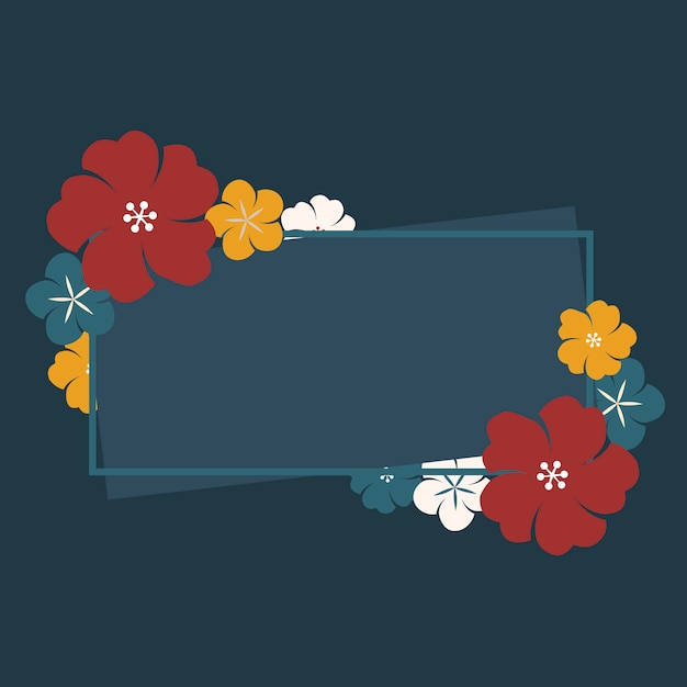 日本の花のフレーム 無料ベクター