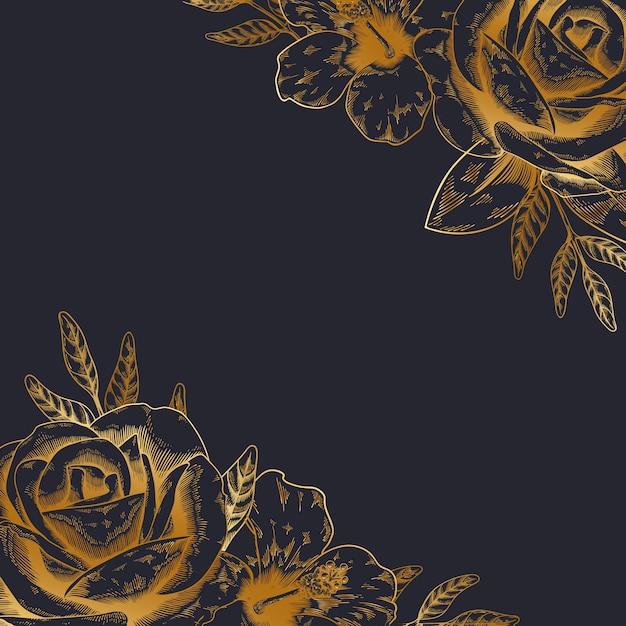 Винтажный цветочный фон Бесплатные векторы
