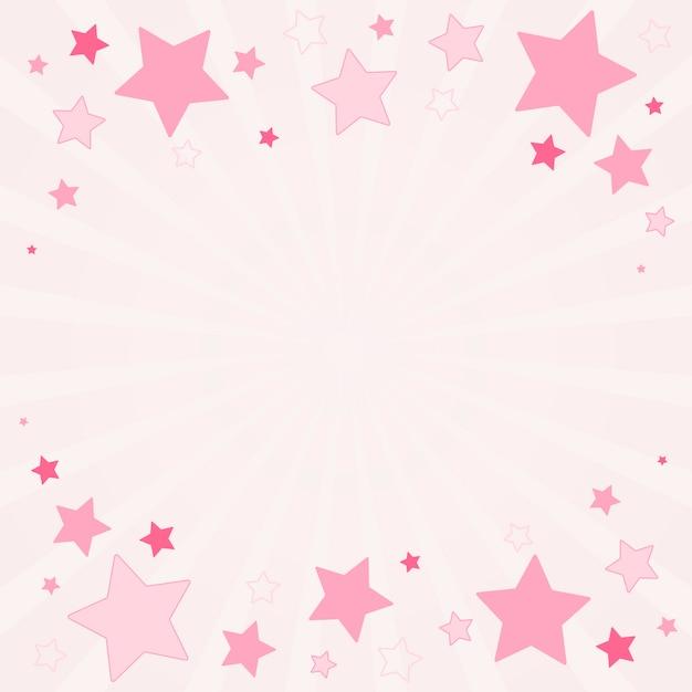 星の背景イラスト 無料ベクター