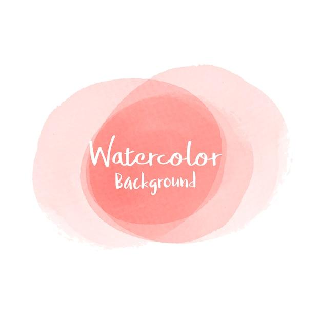 パステル調の桃の水彩画の背景のベクトル 無料ベクター
