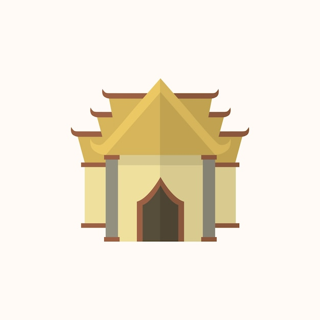 仏教寺院のイラスト 無料ベクター