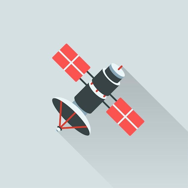 Иллюстрация спутника Бесплатные векторы