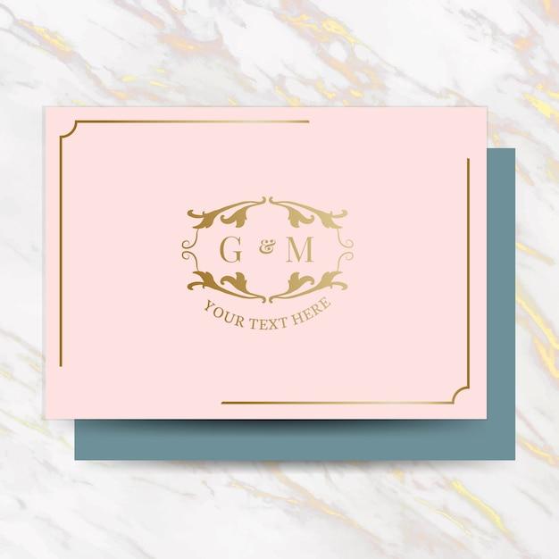 Классический свадебный пригласительный билет Бесплатные векторы