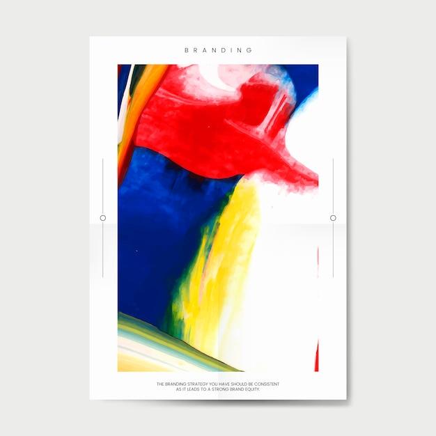 アートイベントのポスター 無料ベクター