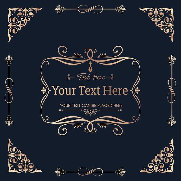 装飾的な書道飾りバナーベクトル 無料ベクター