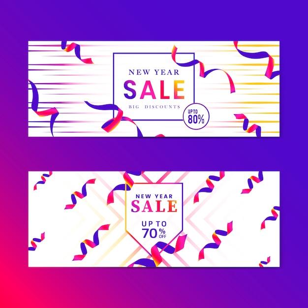 鮮やかなピンクの販売サインベクトルを設定 無料ベクター