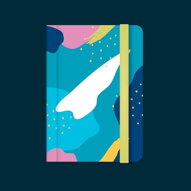 Красочный дизайн обложки ноутбука мемфис вектор Бесплатные векторы
