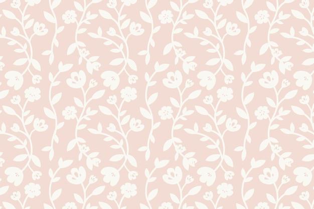 ピンクの花柄の背景のベクトル 無料ベクター